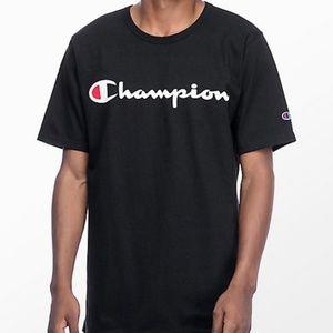 Champion Men's Script Logo Classic T-Shirt NWT